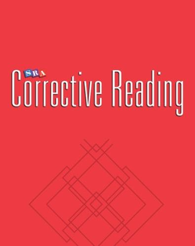 Corrective Reading Comprehension Level B1, Teacher Materials - CORRECTIVE READING COMPREHENSION SERIES