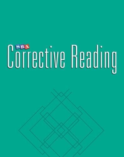 Corrective Reading Comprehension Level C, Teacher Materials - CORRECTIVE READING COMPREHENSION SERIES