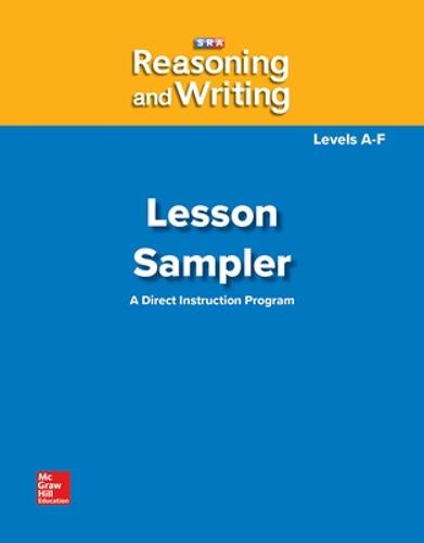 Reasoning and Writing Levels A-F, Lesson Sampler - REASONING AND WRITING SERIES