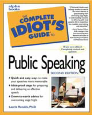 The Complete Idiot's Guide to Speaking in Public with Confidence - The complete idiot's guide (Paperback)