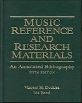 Music Reference and Research Materials: An Annotated Bibliography (Hardback)