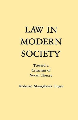 Law in Modern Society (Paperback)