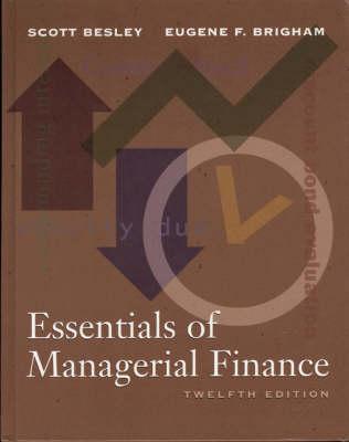 Essentials of Managerial Finance (Hardback)