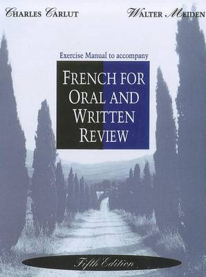 Workbook/Lab Manual for French for Oral and Written Review, 5th (Paperback)