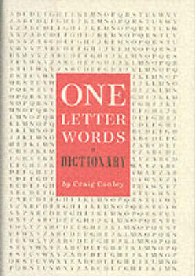 One Letter Words: A Dictionary (Hardback)