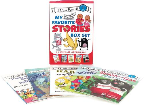 I Can Read My Favorite Stories Box Set: Happy Birthday, Danny and the Dinosaur!; Clark the Shark: Tooth Trouble; Harry and the Lady Next Door; The Berenstain Bears: Down on the Farm; Splat the Cat Makes Dad Glad - I Can Read Level 1 (Paperback)