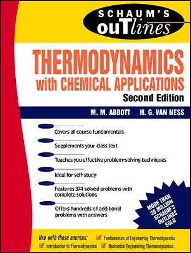Schaum's Outline of Thermodynamics With Chemical Applications (Paperback)