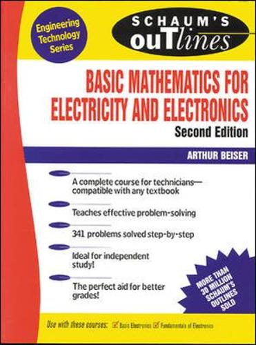 Schaum's Outline of Basic Mathematics for Electricity and Electronics (Paperback)