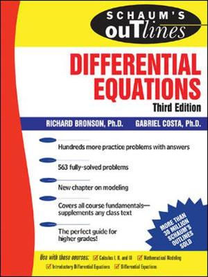 Schaum's Outline of Theory and Problems of Differential Equations - Schaum S. (Paperback)