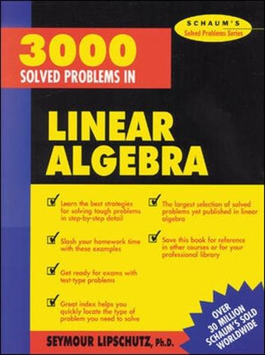 3,000 Solved Problems in Linear Algebra (Paperback)