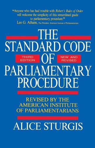 Standard Code of Parliamentary Procedure (Paperback)