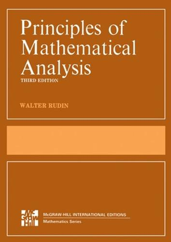 Principles of Mathematical Analysis (Int'l Ed) (Paperback)