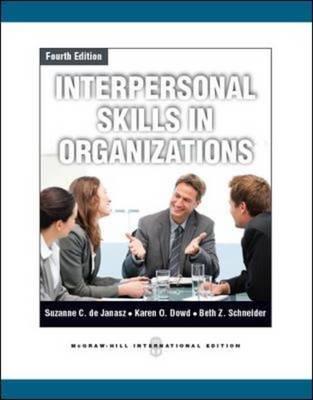 Interpersonal Skills in Organizations (Paperback)