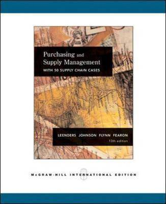 Purchasing Supply Management (Paperback)