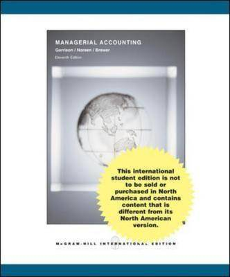 Managerial Accounting 11e with Topic Tackler Plus
