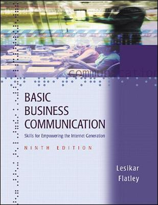 Basic Business Communication: Skills for Empowering the Internet Generation with Student CD-ROM (Book)