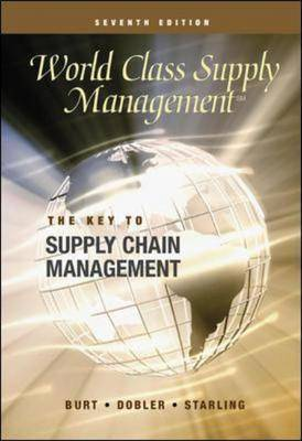 World Class Supply Management: The Key to Supply Chain Management