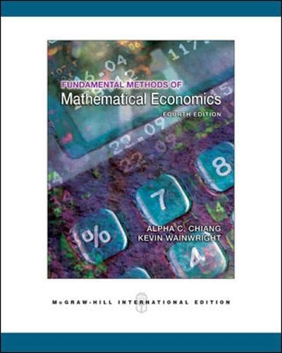 Fundamental Methods of Mathematical Economics (Paperback)
