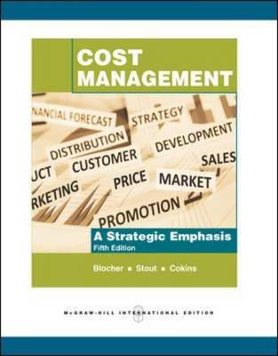 Cost Management: A Strategic Emphasis (Paperback)