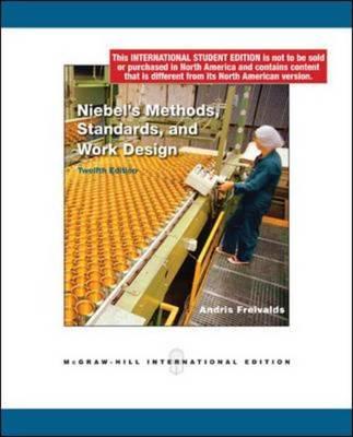 Niebel's Methods, Standards, and Work Design (Paperback)