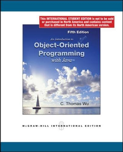 An Introduction to Object-Oriented Programming with Java (Int'l Ed) (Paperback)