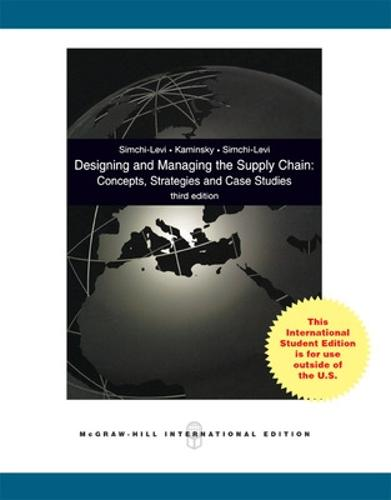 Designing and Managing the Supply Chain 3e with Student CD (Int'l Ed) (Book)