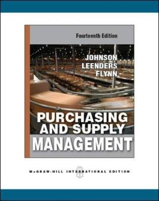 Purchasing and Supply Management (Paperback)