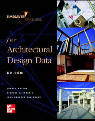 Time-saver Standards for Architectural Design Data: Network Version - Core Handbook CD-ROM's (CD-ROM)