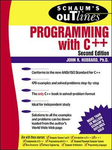 Schaum's Outline of Programming with C++ (Paperback)