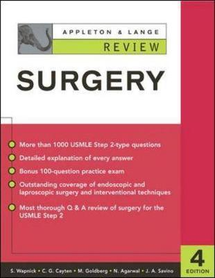 Appleton and Lange Review of Surgery - Appleton & Lange Review Book (Paperback)