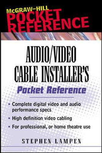 Audio/Video Cable Installer's Pocket Guide (Paperback)