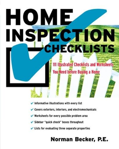 Home Inspection Checklists: 111 Illustrated Checklists and Worksheets You Need before Buying a Home (Paperback)