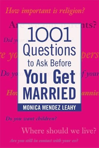 1001 Questions to Ask Before You Get Married (Paperback)