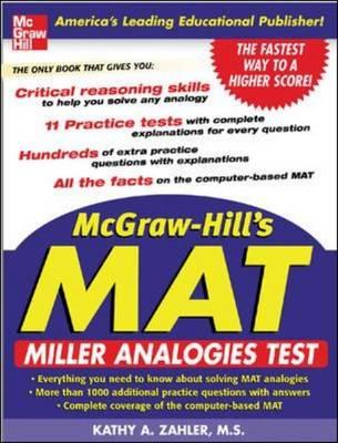 McGraw-Hill's Miller Analogies Test (MAT) (Paperback)