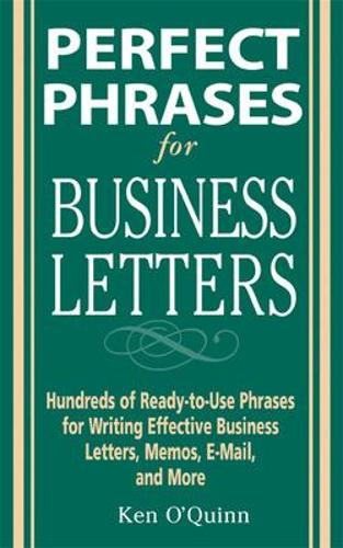 Perfect Phrases for Business Letters - Perfect Phrases Series (Paperback)