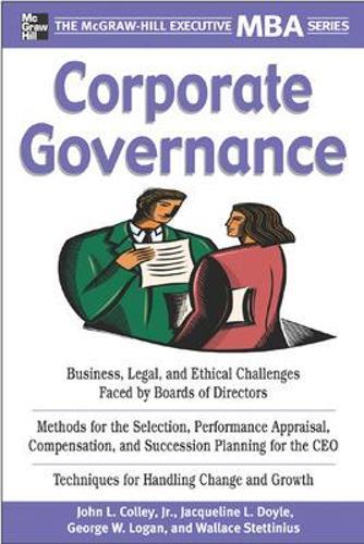 Corporate Governance - Executive MBA Series (Paperback)