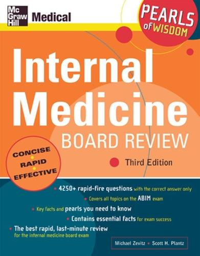Internal Medicine Board Review: Pearls of Wisdom: Pearls of Wisdom - Pearls of Wisdom (Paperback)
