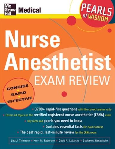 Nurse Anesthetist Exam Review: Pearls of Wisdom - Pearls of Wisdom (Paperback)
