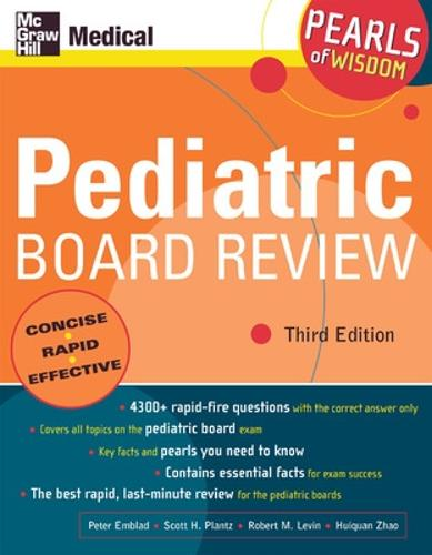 Pediatric Board Review: Pearls of Wisdom, Third Edition - Pearls of Wisdom (Paperback)
