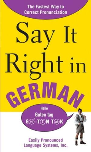 Say It Right In German (Paperback)