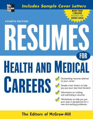 Resumes for Health and Medical Careers (Paperback)