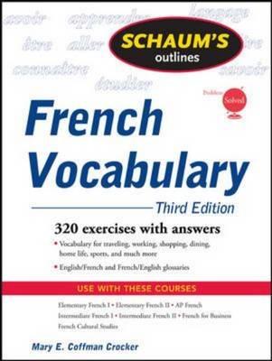 Schaum's Outline of French Vocabulary - Schaum's Outline Series (Paperback)