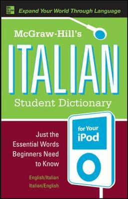 McGraw-Hill's Italian Student Dictionary for your iPod (MP3 CD-ROM + Guide) (Book)