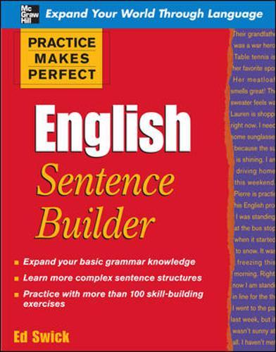 Practice Makes Perfect English Sentence Builder - Practice Makes Perfect Series (Paperback)