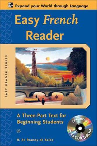 Easy French Reader w/CD-ROM: A Three-Part Text for Beginning Students - Easy Reader Series (Book)