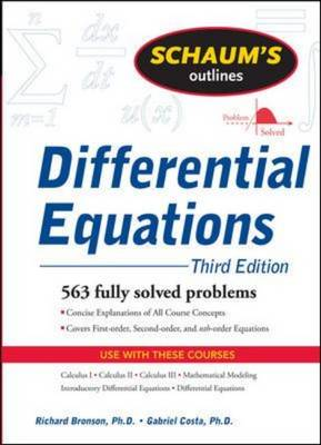 Schaum's Outline of Differential Equations - Schaum's Outline Series (Paperback)