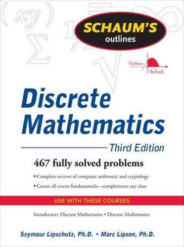 Schaum's Outline of Discrete Mathematics, Revised Third Edition (Paperback)