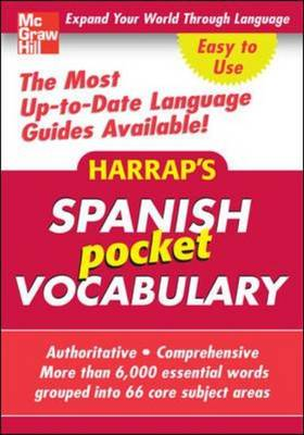 Harrap's Pocket Spanish Vocabulary - Harrap's Language Guides (Paperback)