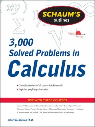 Schaum's 3,000 Solved Problems in Calculus (Paperback)