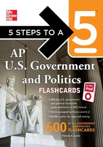 5 Steps to a 5 AP U.S. Government and Politics Flashcards for your iPod with MP3/CD-ROM Disk - 5 Steps to a 5 on the Advanced Placement Examinations (Book)